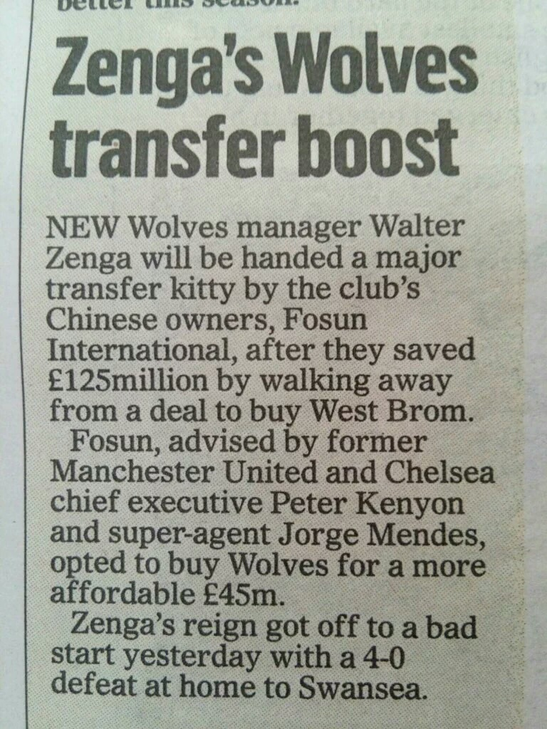 Not sure this is legit,but funny if it is. Up the wolves.